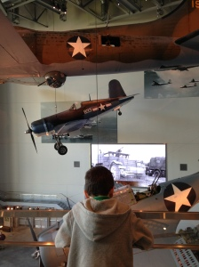 My son at the National WWII Museum.