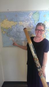 Marie Mater with Didgeridoo