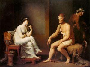 Odysseus and Penelope, Johann Tischbein (1802)