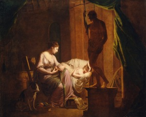 Penelope Unraveling Her Web, Joseph Wright of Derby (1783-85)