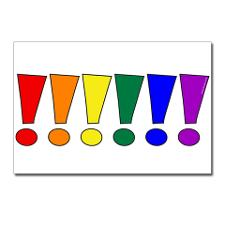rainbow_exclamation_points_postcards_package_of_8