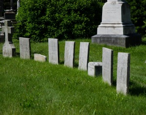 Tombstones All In A Row