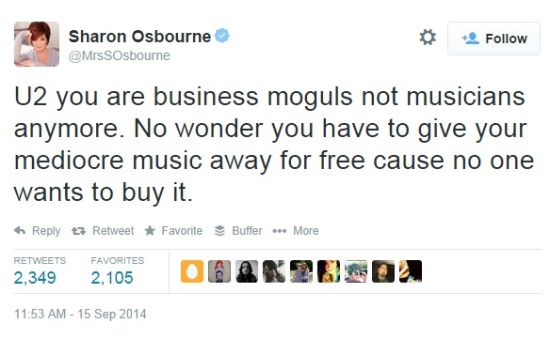 Sharon Osbourne tweet